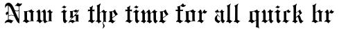 Monotype Engravers Old English Pro sample