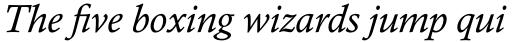 Calisto Pro Italic sample