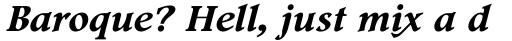Footlight Pro Bold Italic sample