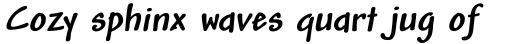 Andy Pro Bold Italic sample
