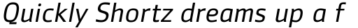 Zemestro Pro Book Italic sample