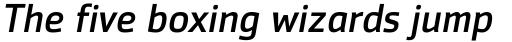 Zemestro Pro Italic sample