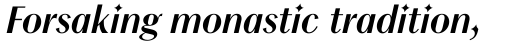 Chong Modern Pro Bold Italic sample