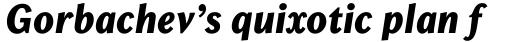 Chong Old Style Pro ExtraBold Italic sample