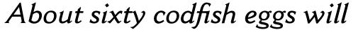 Cantoria Pro SemiBold Italic sample