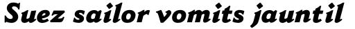 Cantoria Pro ExtraBold Italic sample