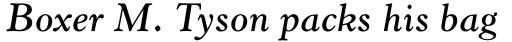 Horley Old Style Pro SemiBold Italic sample