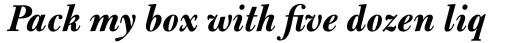 Bulmer Pro Bold Italic sample
