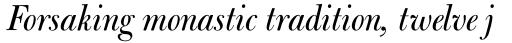 Bulmer Pro Display Italic sample