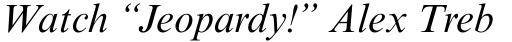 Times New Roman Pro Italic sample