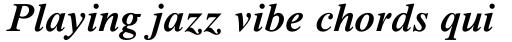 Times New Roman Pro SemiBold Italic sample