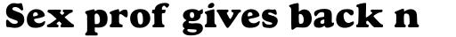 Monotype Goudy Pro ExtraBold sample
