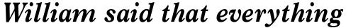News Plantin Pro Bold Italic sample