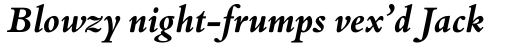 Bembo Book Std Bold Italic sample