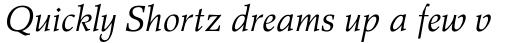 Wile Pro Italic sample
