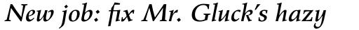 Wile Pro Medium Italic sample