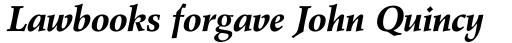 Wile Pro Bold Italic sample