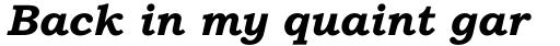Bookman Old Style Pro Cyrillic Bold Italic sample