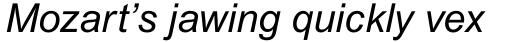 Arial Pro Italic sample