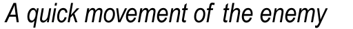 Arial Pro Narrow Italic sample