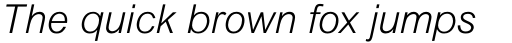 Arial Pro Light Italic sample