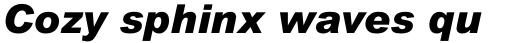 Arial Pro Black Italic sample