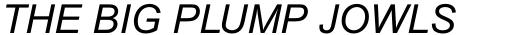 Arial Pro Greek Italic sample