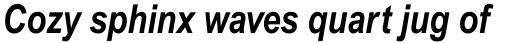 Arial Pro Cyrillic Narrow Bold Italic sample