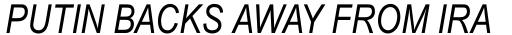 Arial Pro Greek Narrow Italic sample