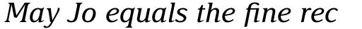 Delima Pro Italic sample