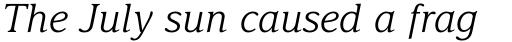 Delima Pro Light Italic sample