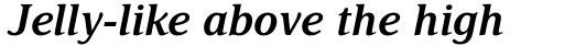 Delima Pro SemiBold Italic sample