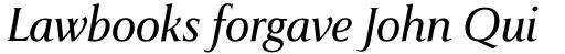 Pompei Pro Light Italic sample