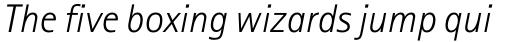 Rotis Sans Serif Paneuropean W1G 46 Light Italic sample