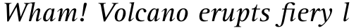 Rotis Serif Paneuropean W1G 56 Italic sample