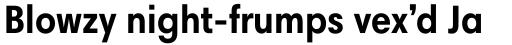 Harmonia Sans Pro Condensed Bold sample