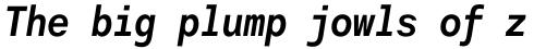 Harmonia Sans Std Mono Bold Italic sample