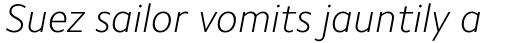 Camphor Std Thin Italic sample