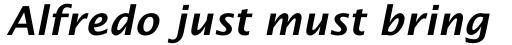 Lucida Schoolbook Std Bold Italic sample