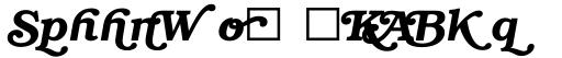ITC Bookman Swash DemiBold Italic sample