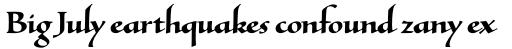Tresillian Script Bold sample