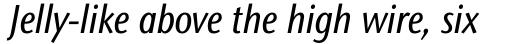 Stone Sans II Pro Condensed Medium Italic sample