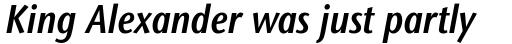 Stone Sans II Pro Condensed SemiBold Italic sample