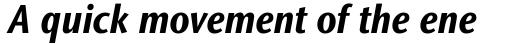 Stone Sans II Pro Condensed Bold Italic sample