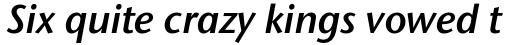 Stone Sans II Pro SemiBold Italic sample