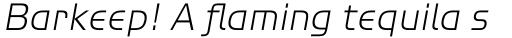 ITC Handel Gothic Std Light Italic sample