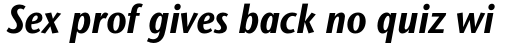 Stone Sans II Std Condensed Bold Italic sample
