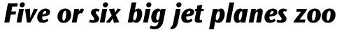 Stone Sans II Std Condensed ExtraBold Italic sample