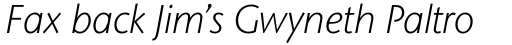 Stone Sans II Std Light Italic sample