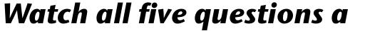 Stone Sans II Std ExtraBold Italic sample